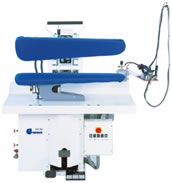 dry cleaning finishing equipment, manual and pneumatic utility press